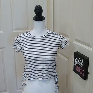 🛍Aeropostale striped Tie Women'sTop XS